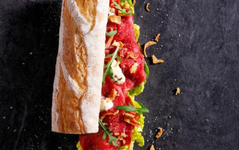 Hush Broodje Verse Ossenhaas Carpaccio - Vers belegde broodjes
